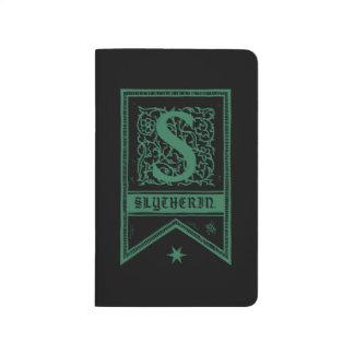 Diário Bandeira do monograma de Harry Potter | Slytherin