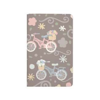Diário Bicicleta retro e flores