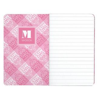 Diário Bonito no teste padrão cor-de-rosa   adicione seu