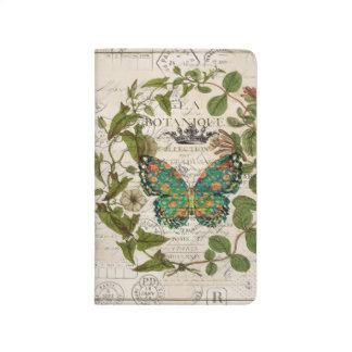 Diário borboleta botânica francesa dos roteiros boémios
