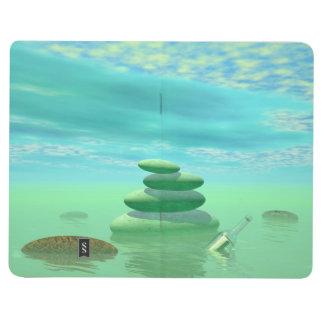 Diário Borboletas em vôo em uma paisagem do zen