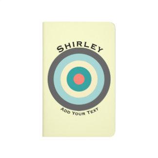 Diário Bullseye cinzento da combinação por Shirley Taylor