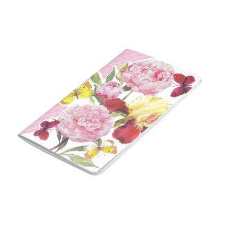 Diário Buquê cor-de-rosa e amarelo floral da íris da