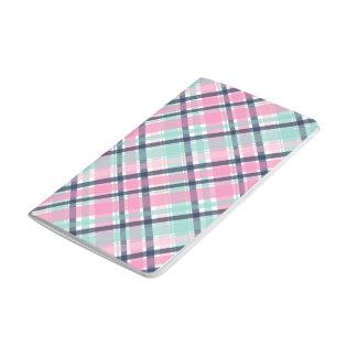 Diário Caderno de bolso cor-de-rosa da xadrez
