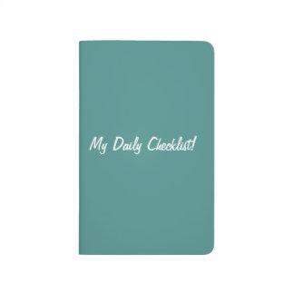 Diário Caderno de bolso da lista de verificação na