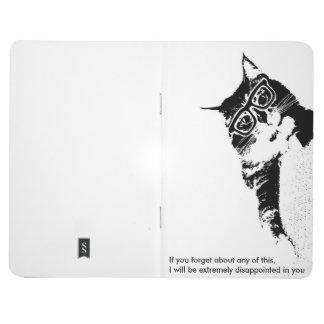 Diário Caderno de bolso do gato do hipster