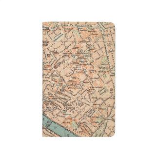 Diário Caderno de bolso do jornal do mapa do viagem