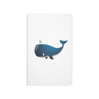 """Diário """"Caderno do caráter da baleia do selo pequeno do"""