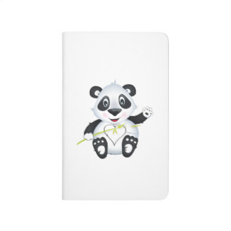 """Diário """"Caderno do caráter da panda do selo pequeno do"""