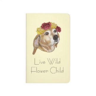Diário Caderno do filhote de cachorro da flor