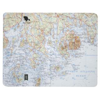 Diário Caderno do mapa de Downeast Maine