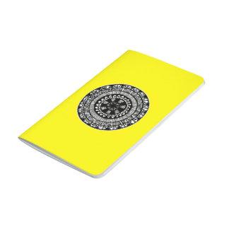 Diário Caderno inspirado Henna do design do círculo