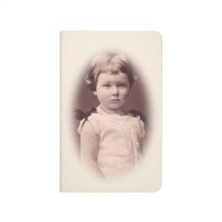 Diário Caderno requintado da menina da imagem do vintage