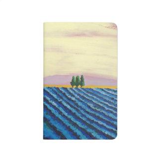 Diário Campo da lavanda (paisagem francesa) - arte de