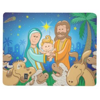 Diário Cena doce da natividade do bebê Jesus