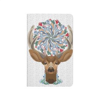 Diário Cervos bonitos mágicos da floresta com símbolo do