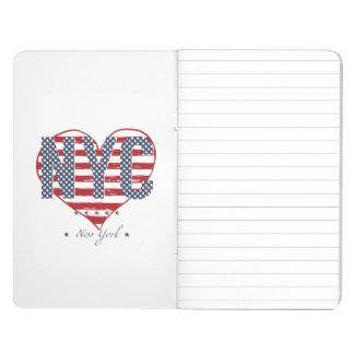Diário Coração da bandeira americana de NYC