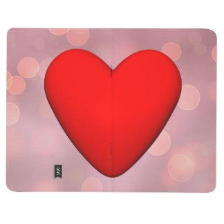 Diário Coração vermelho - 3D rendem