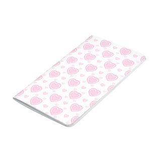 Diário Corações cor-de-rosa & brancos românticos