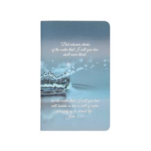 Diário Da água azul da vida verso John da bíblia da sede