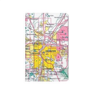 Diário #Denver interno do caderno do mapa por