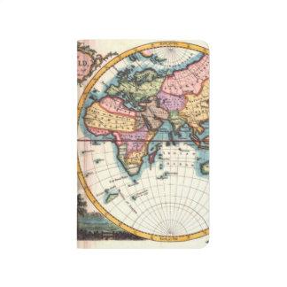 Diário Desenho velho da ilustração do mapa do mundo da
