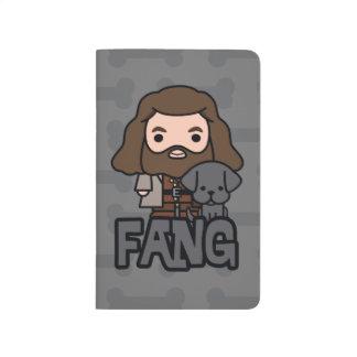 Diário Desenhos animados Hagrid e arte do caráter do