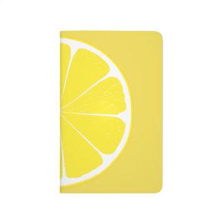 Diário Design amarelo brilhante da fatia dos citrinos do