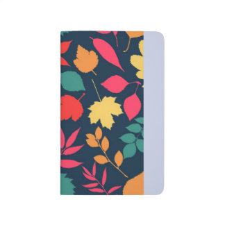 Diário Design original das folhas de outono, cores