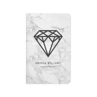 Diário Diamante com mármore
