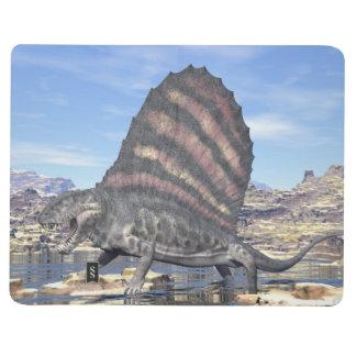 Diário Dimetrodon que está em uma lagoa no deserto