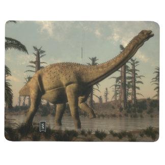 Diário Dinossauro de Uberabatitan no lago - 3D rendem