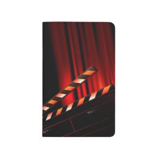 Diário Diretor vermelho da ripa da cortina do filme