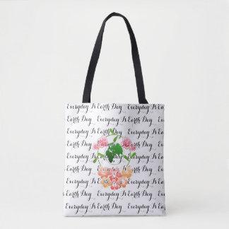 """""""Diário é o Dia da Terra"""" floral, saco de bolsa do"""