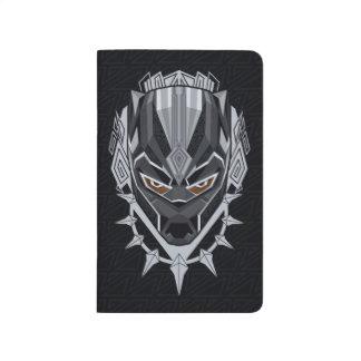 Diário Emblema da cabeça da pantera preta de pantera