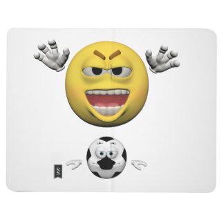 Diário Emoticon amarelo ou smiley do futebol
