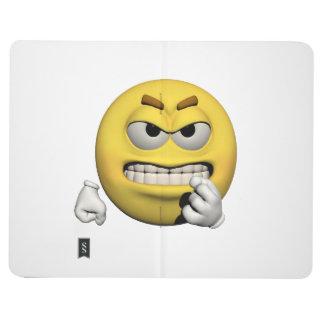 Diário Emoticon irritado amarelo ou smiley