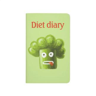 Diário engraçado da dieta dos brócolos dos