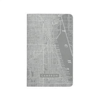 Diário Esboço do mapa da cidade de Chicago