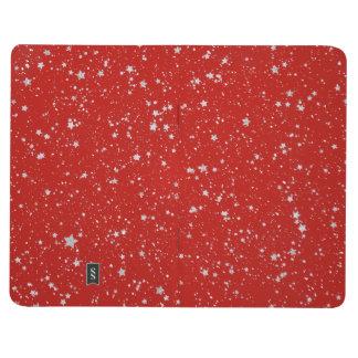 Diário Estrelas do brilho - vermelho de prata