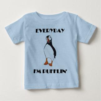 Diário eu sou pássaro do papagaio-do-mar de camiseta para bebê