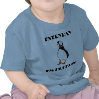 Diário eu sou pássaro do papagaio-do-mar de Puffli Tshirt