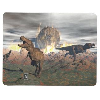 Diário Exctinction do dinossauro do tiranossauro - 3D