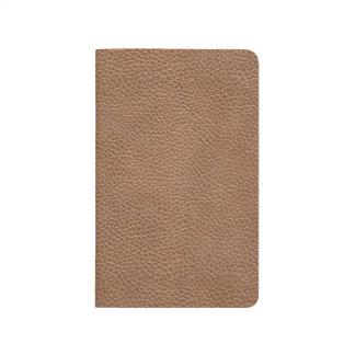 Diário Falso Brown natural de couro