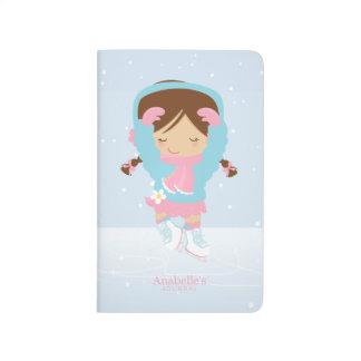 Diário Figura patinador pequena bonito personalizado