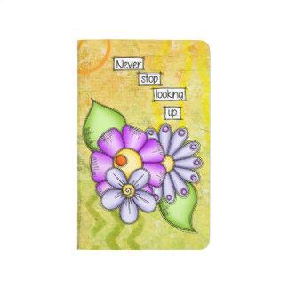 Diário Flor positiva do Doodle do pensamento do prazer da
