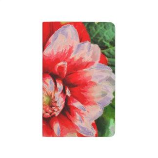 Diário Flor vermelha grande