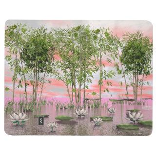 Diário Flores e bambus de Lotus - 3D rendem