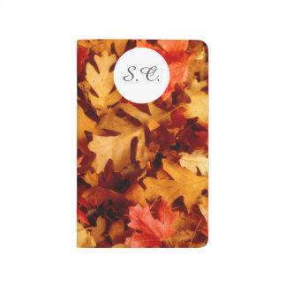 Diário Folhas de outono - cor da queda