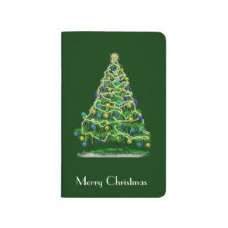 Diário Fundo verde abstrato de w da árvore de Natal